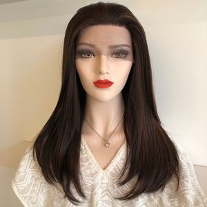 "20"" Brown W/ Highlights Lace Front Wig 
